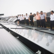 New solar panels to reduce fossil fuel consumption